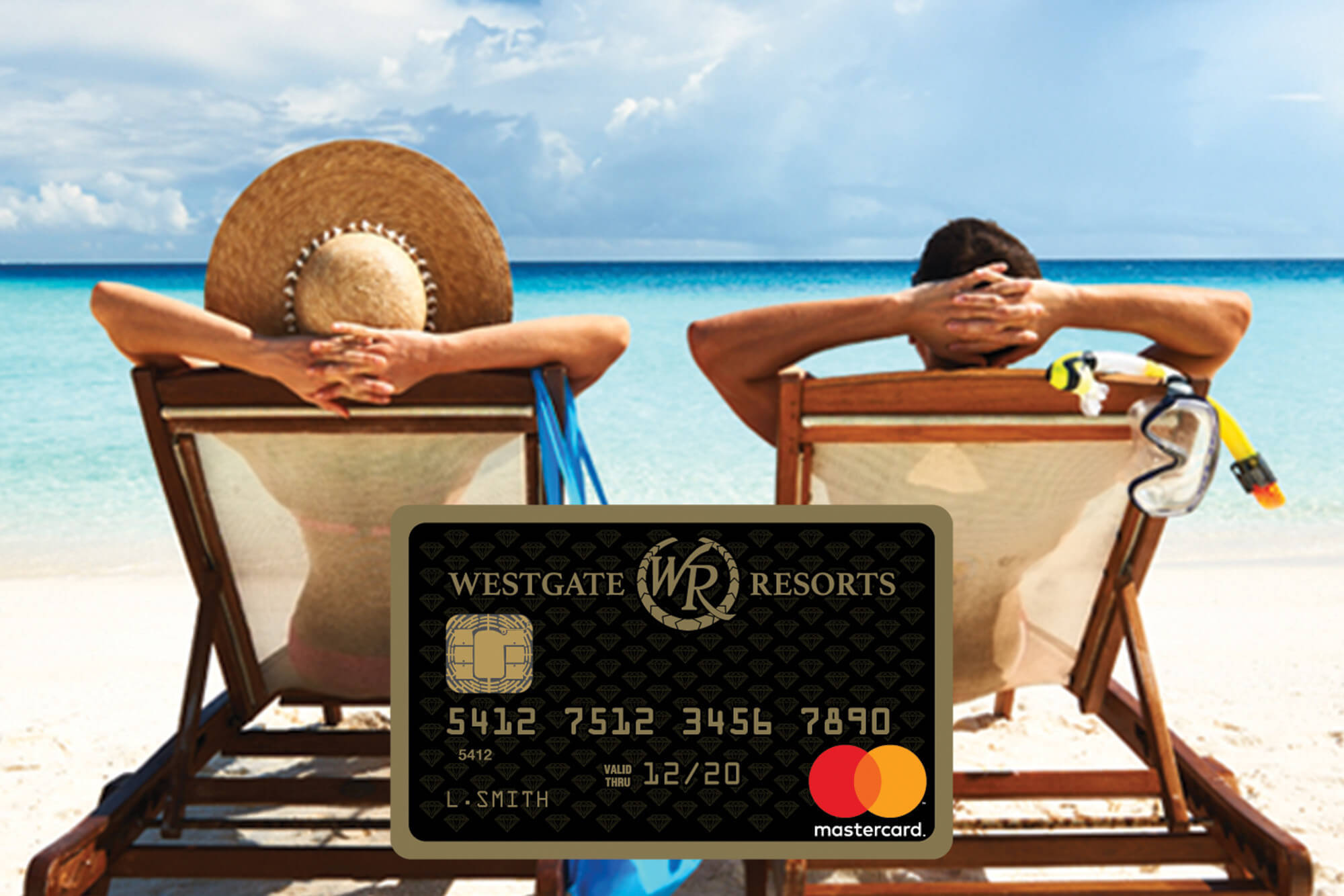 Couple on Beach with a Westgate Resorts Mastercard Image | Westgate Resorts